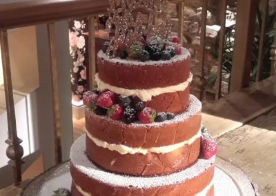3 Tier Naked with Fruit Alt. Sides (2 layers per tier)