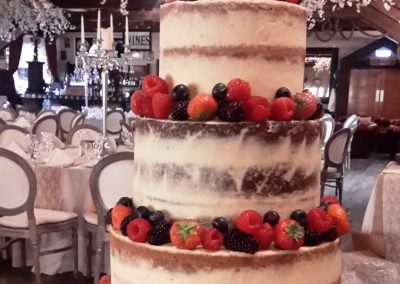 Semi Naked with Fruit - 3 layers per tier
