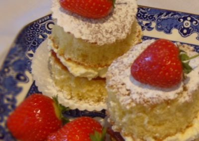 Strawberries and Cream miniature cakes