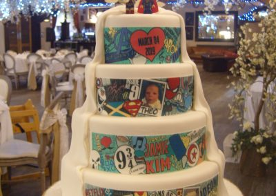 Half and Half - Bespoke Wedding Cake