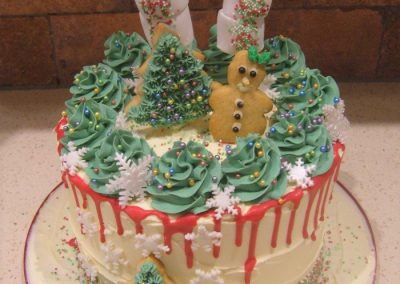 """Gingerbread Forrest - 6"""" (approx 15 servings) - £50.00, 8"""" (approx. 25 servings) - £60.00,  10"""" - (approx. 35 servings) - £70.00"""